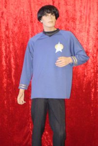 Sock costume shirt and spock ears
