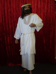 Jesus all white biblical costume