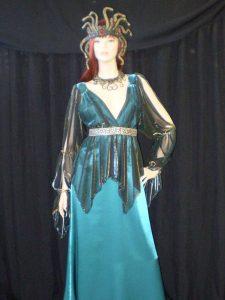 Medusa costume with snake headdress