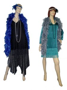 Black and teal 20's - 30's dresses
