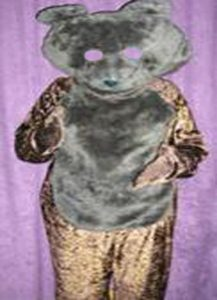 Dark brown bear costume
