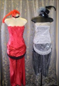 Showgirl costumes, Moulin Rouge or vintage circus costumes