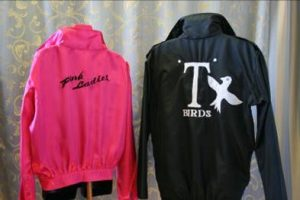 Pink lady and t bird jackets from Grease. Movie costumes. 1950's, 1980's