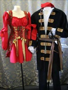 Jack Sparrow style pirate and pirate wench costume