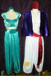 Jasmin and Aladdin Disney character costumes