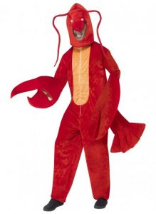 Lobster costume, underwater costume ideas.