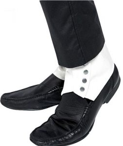white spats can be used for the 1920's or a steampunk costume