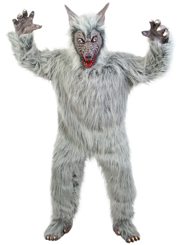 Grey full fur Wolf part of our collection of animal costumes