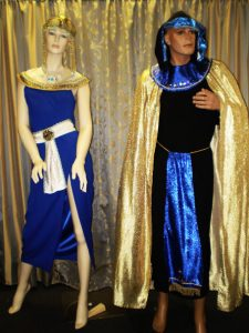 Male and female Egyptian costumes