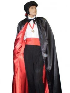 Dracula or Vampire costume. Makes a great Friday 13th or Halloween costume