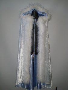Winter is Coming blue & white fur trim cape