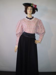 late 1800's early 1900's ladies fashion blouse and skirt