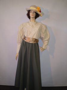 Edwardian skirt and leg of mutton sleeve blouse