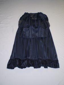 Navy bustle skirt