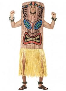 Tiki Totem costume available to purchase. Something different for a Hawaiian theme party.