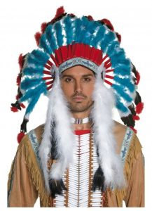 Indian Chief feathered headdress