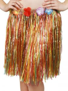 Hawaiian grass skirt to buy. Also available in longer length in pink and natural.
