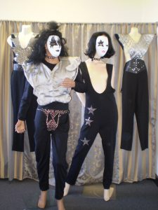 KISS 70's 80's musician costumes starting with k