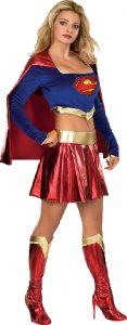 Super girl costume with crop top