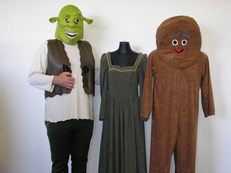 Shrek, Fiona & Gingerbread man