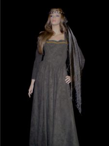Ladies green Medieval costume