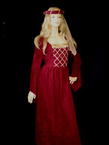 Burgundy Medieval damsel in distress