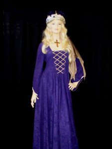 Purple Medieval Queen costume