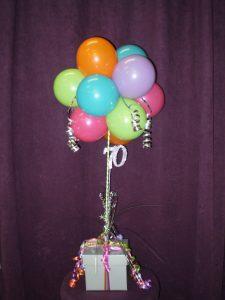 70th birthday balloons