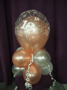 Rose gold 18th birthday balloons