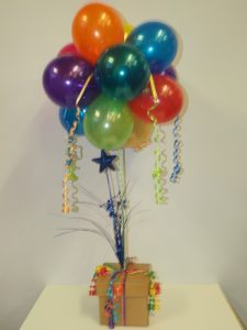 Bright party balloons