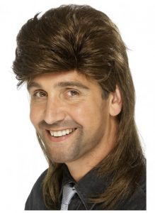 Brown 80's mullet wig to buy.