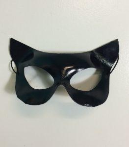 Cat woman mask, Black vynil
