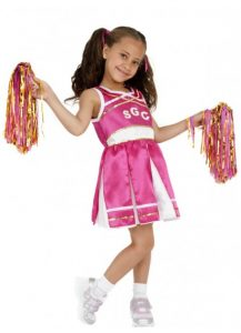 Kids costume cheerleader