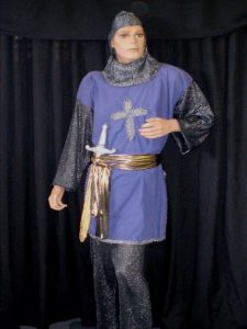 Blue Medieval Knight costume