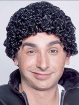 Michael Jackson or soul glow black Afro wig.