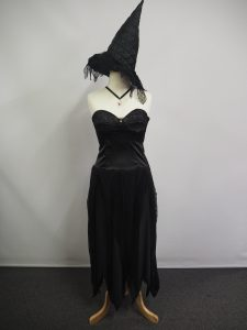 Black strapless witch costume