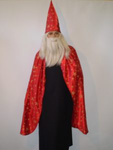 Red & black wizard cape & hat