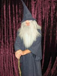 Gandalf the grey style wizard