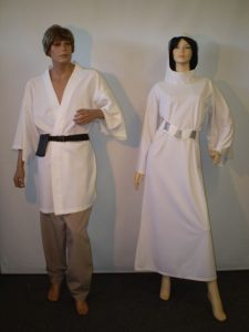 Luke & Leia Star Wars costumes. Space costumes