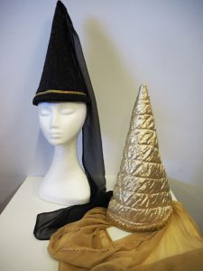 Steeple hats or Hennins - hire only. Others available to choose from in store.