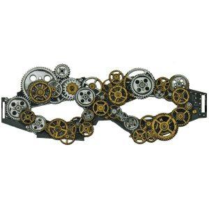 Silver & bronze steampnk mask
