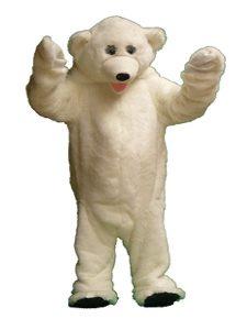 Deluxe mascot style Polar bear costume