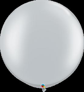 big silver balloon