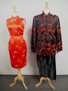 Red & black Chinese costumes