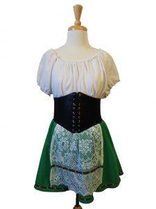 German skirt, blouse and apron set