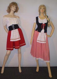 Swiss or German ladies costumes