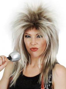 David Bowie or Tina Turner wig
