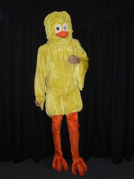 Yellow chicken costume
