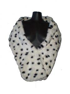Dalmatian print fur stole