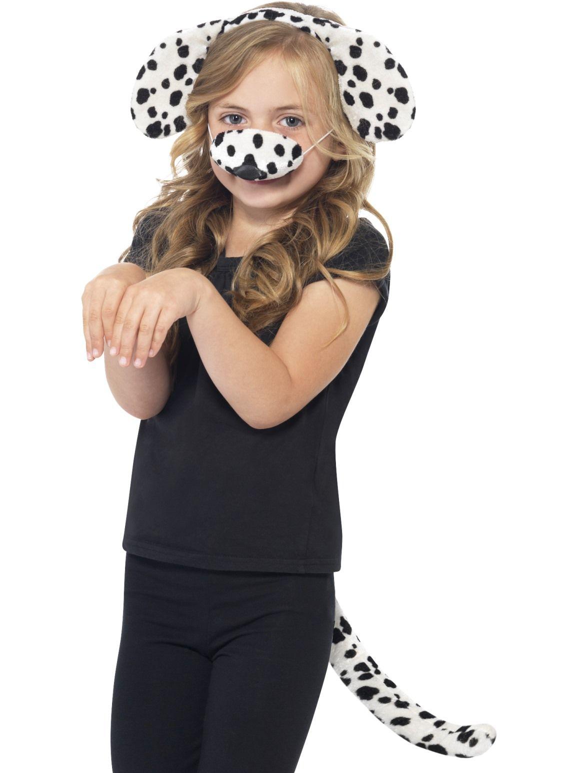 Dalmatian, ears, nose & tail.